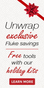 Black Friday / Holiday 2014 Sale on now. Save on Fluke tools and load up with free gear