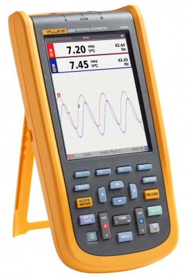 Fluke 125B/S Industrial ScopeMeter® Hand Held Oscilloscope Kit, 40MHz