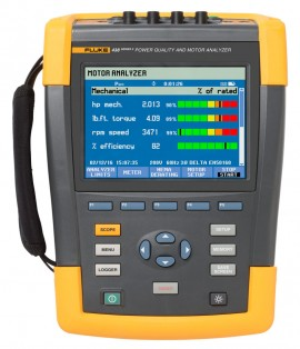 Fluke 438-II/BASIC Three-Phase Power Quality and Motor Analyzer without current flexis (excludes FC WiFi SD card)