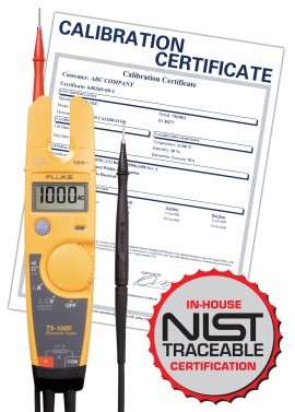 Fluke T5-1000-NIST 1000V Electrical Tester with NIST Traceable Certificate