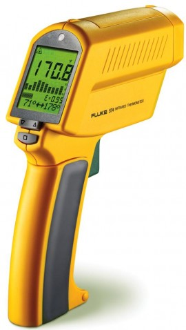 Fluke 574 Precision Infrared Thermometer w/ Logging SW Close Focus