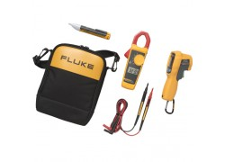 Fluke 62 MAX+/323/1AC IR Thermometer Clamp Meter and Voltage Detector Kit