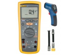 Fluke 1587 FC Multimeter Kit - Includes R2002 IR Thermometer & TPAK Meter Hanging Kit