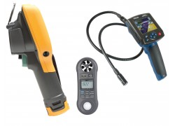 Fluke Ti105 Thermal Imager Kit - Includes BS-150 Borescope & LM-8000 Environmental Meter for FREE