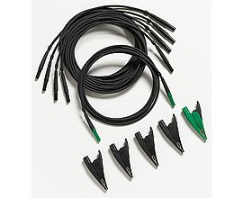 Fluke TLS430 - Test Leads and Alligator Clips (4 black, 1 green)