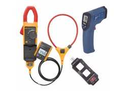 Fluke 381-KIT 4 Remote Display True RMS AC/DC Clamp Meter Kit - Includes the R2001 Infrared Thermometer & the R5400 Line Splitter FREE-