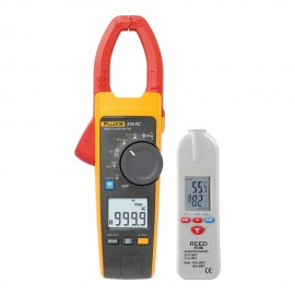 Fluke 376 FC True RMS AC/DC Clamp Meter Kit - Includes the R2001 IR  Thermometer for FREE