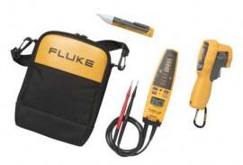 Fluke 62MAX+/T+PRO/1AC Infrared Thermometer, Voltage Continuity Tester, and Voltage Detector Kit-