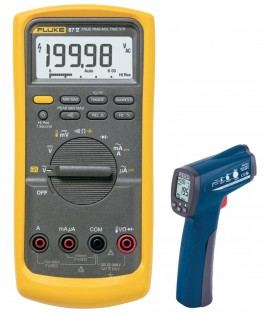 Fluke 87V True RMS Industrial Multimeter Kit - Includes the R2300 Infrared  Thermometer for FREE