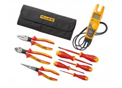 Fluke IBT6K T6 Electrical Tester & Insulated Hand Tools Starter Kit with Roll Up Pouch-