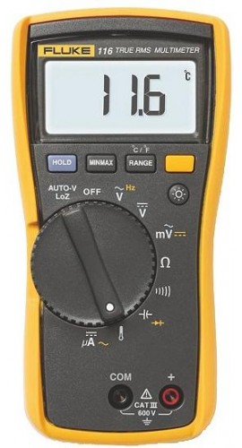 Fluke 116 HVAC/R Multimeter with Temperature and Microamps