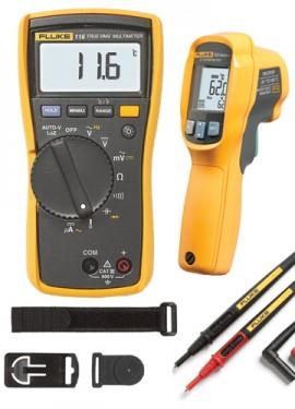 Fluke 116/62 MAX+ HVAC/R Multimeter and IR Thermometer Combo Kit